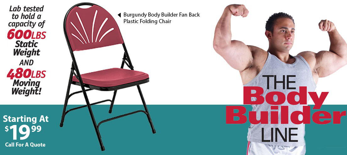 Body Builder Plastic Folding Chairs