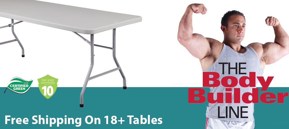 Body Builder Plastic Folding Tables