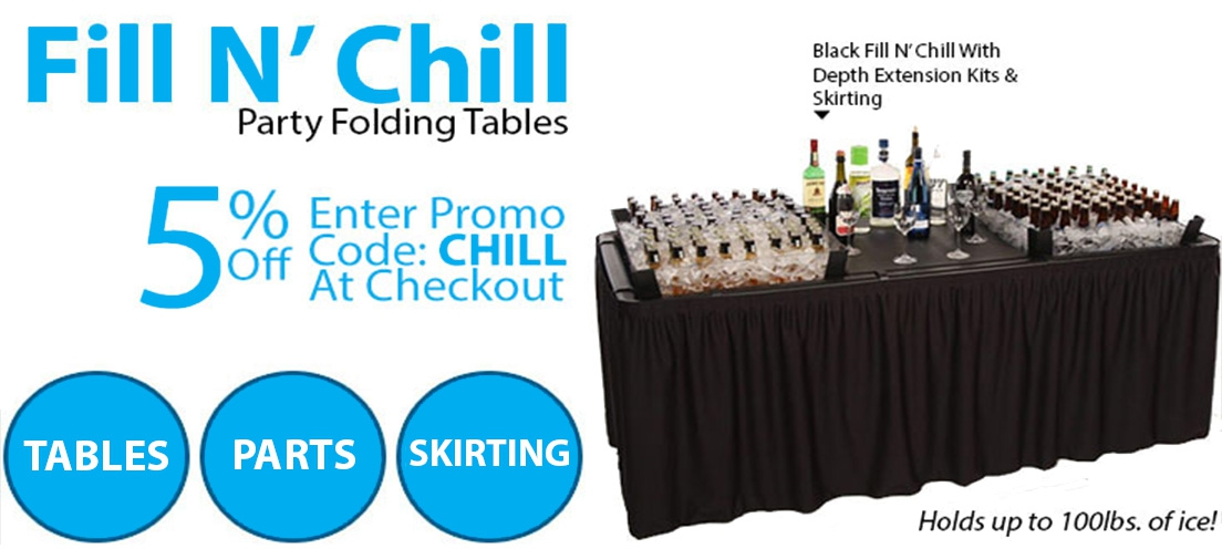 Fill n Chill Party Tables