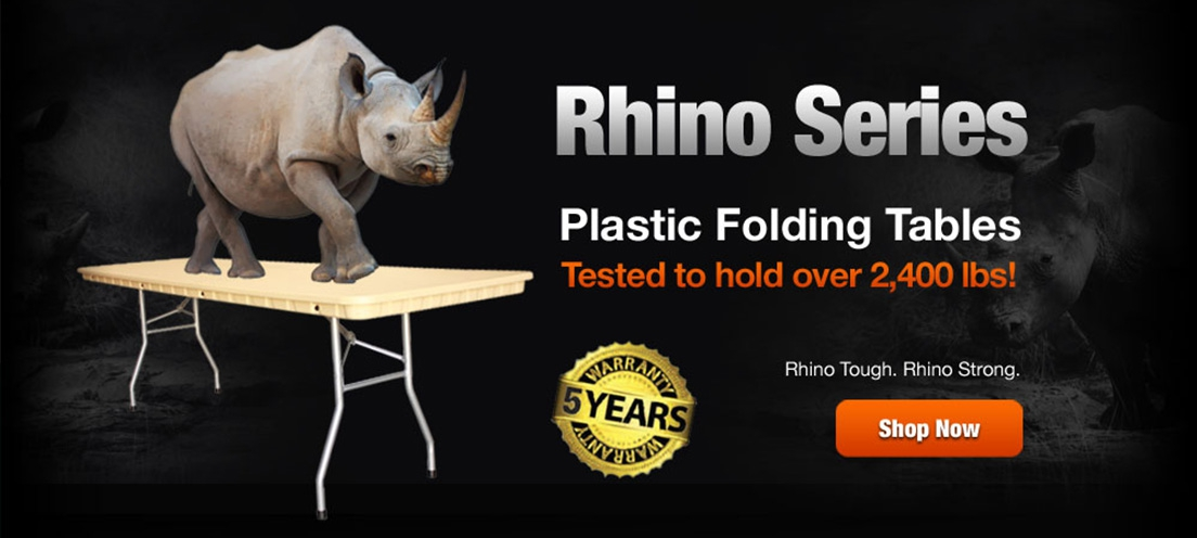 Rhino Series Plastic Folding Tables