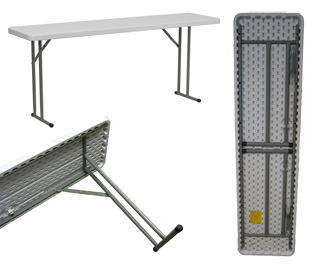 A Standard Plastic Folding Table Provides Unbelievable Strength Without  Cutting Into Your Wallet.