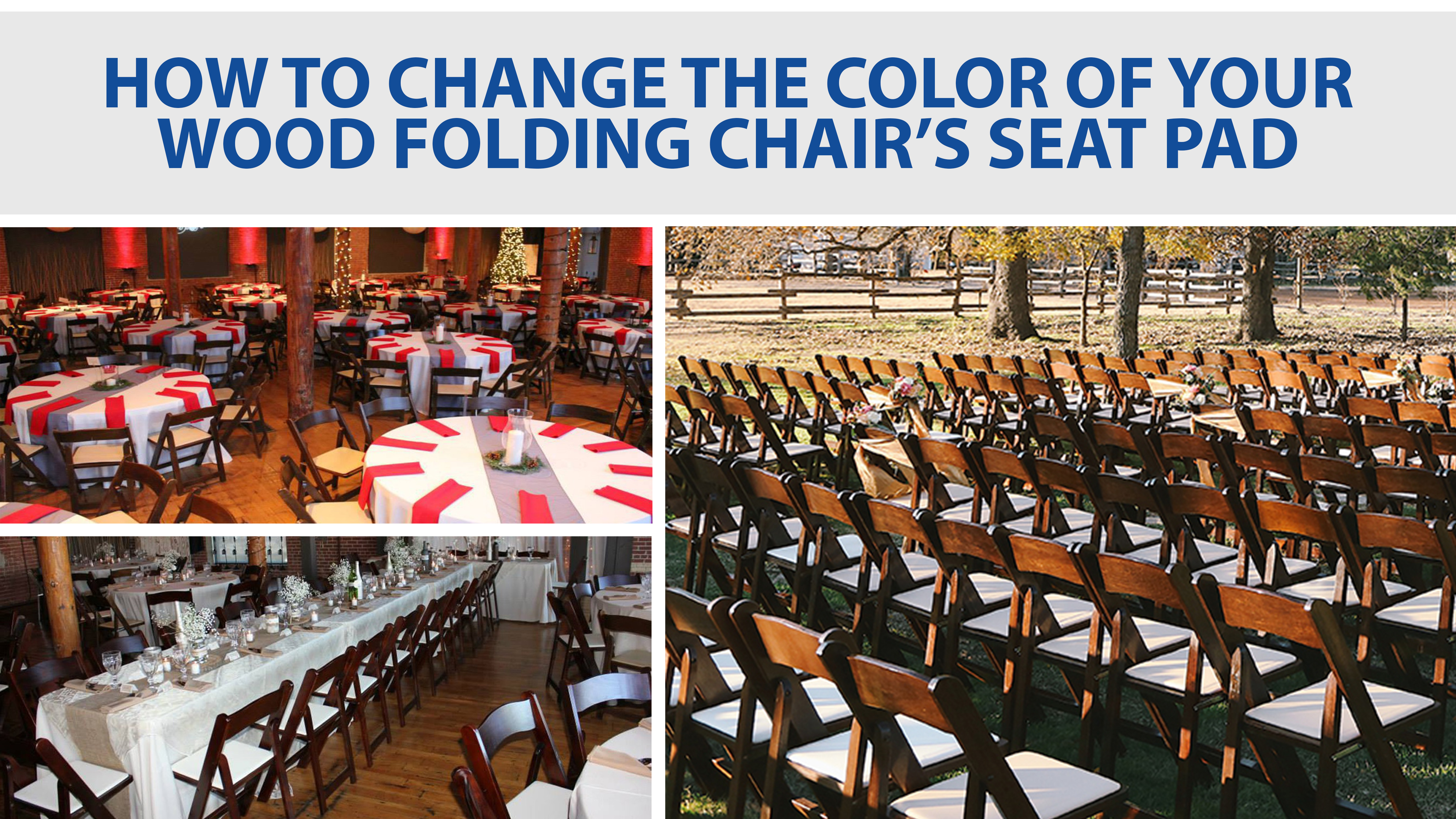 How To Change The Color Seat Pad On Your Wood Folding Chair